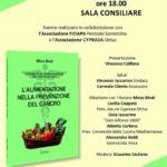 """Locandina """"l'alimentazione nella prevenzione del cancro"""""""