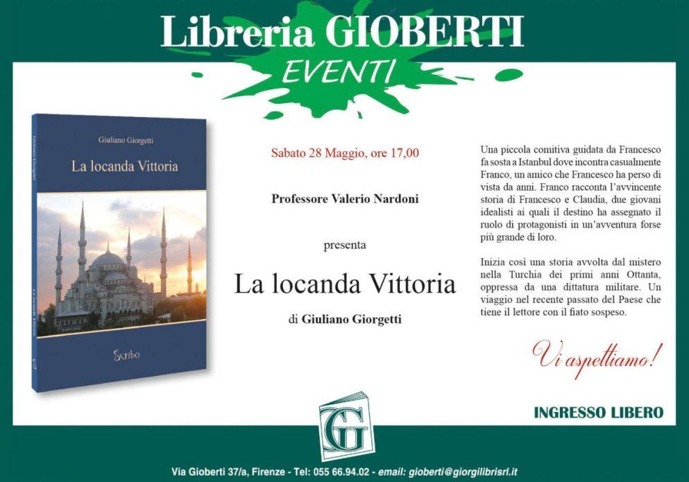 Locandina della presentazione del libro 'La Locanda Vittoria'