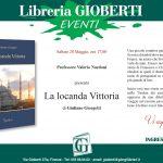 Locandina della presentazione del libro La Locanda Vittoria scritta da Giuliano Giorgetti.