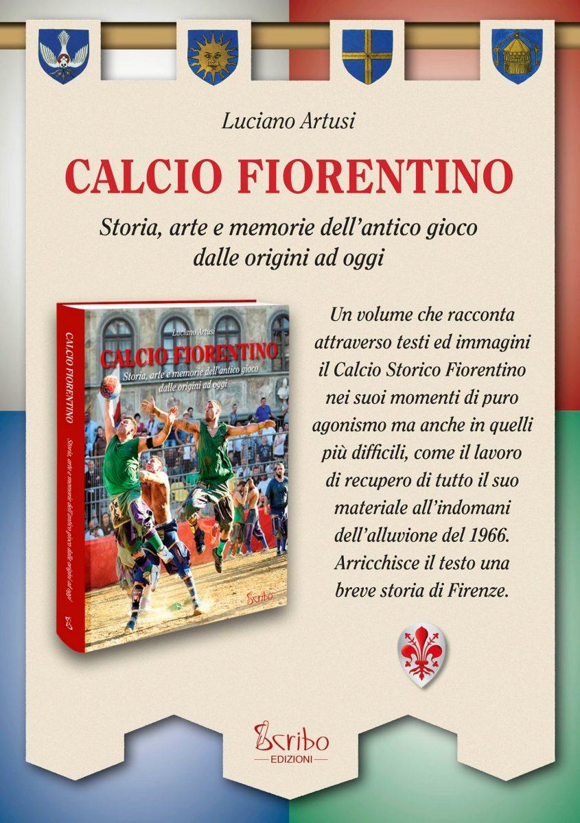 Locandina della presentazione del libro 'Calcio fiorentino' di Luciano Artusi