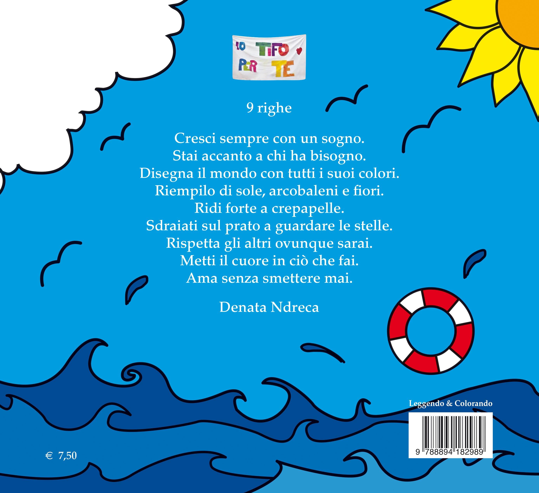 Copertina del libro 'La carrozzina magica' (retro)