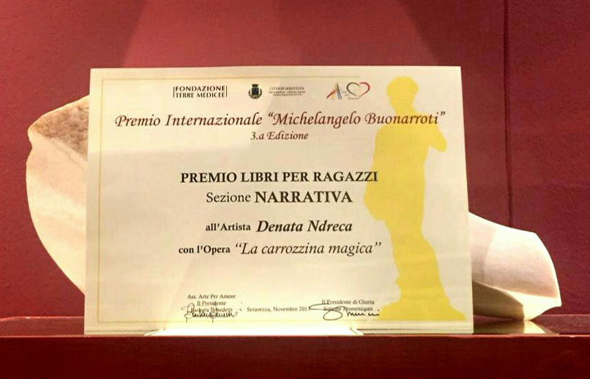 La carrozzina magica di Denata Ndreca - Premio Internazionale Michelangelo Buonarroti